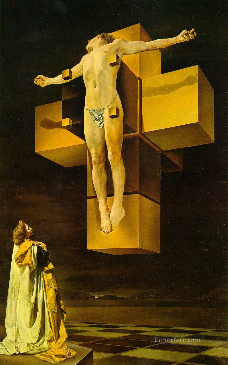 Crucifixion Hypercubic Body Cubism Dada Surrealism SD religious Christian Oil Paintings