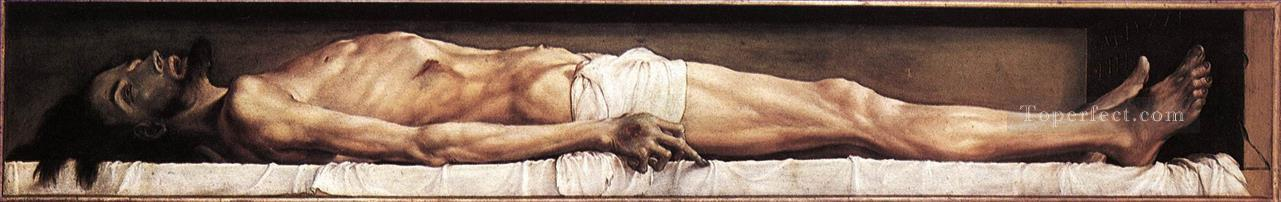 The Body of the Dead Christ in the Tomb religious Hans Holbein the Younger Oil Paintings