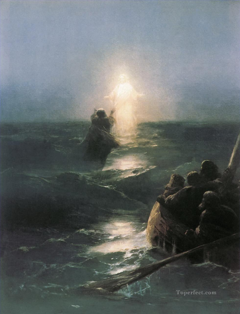 jesus walks on water Ivan Aivazovsky religious Christian Oil Paintings