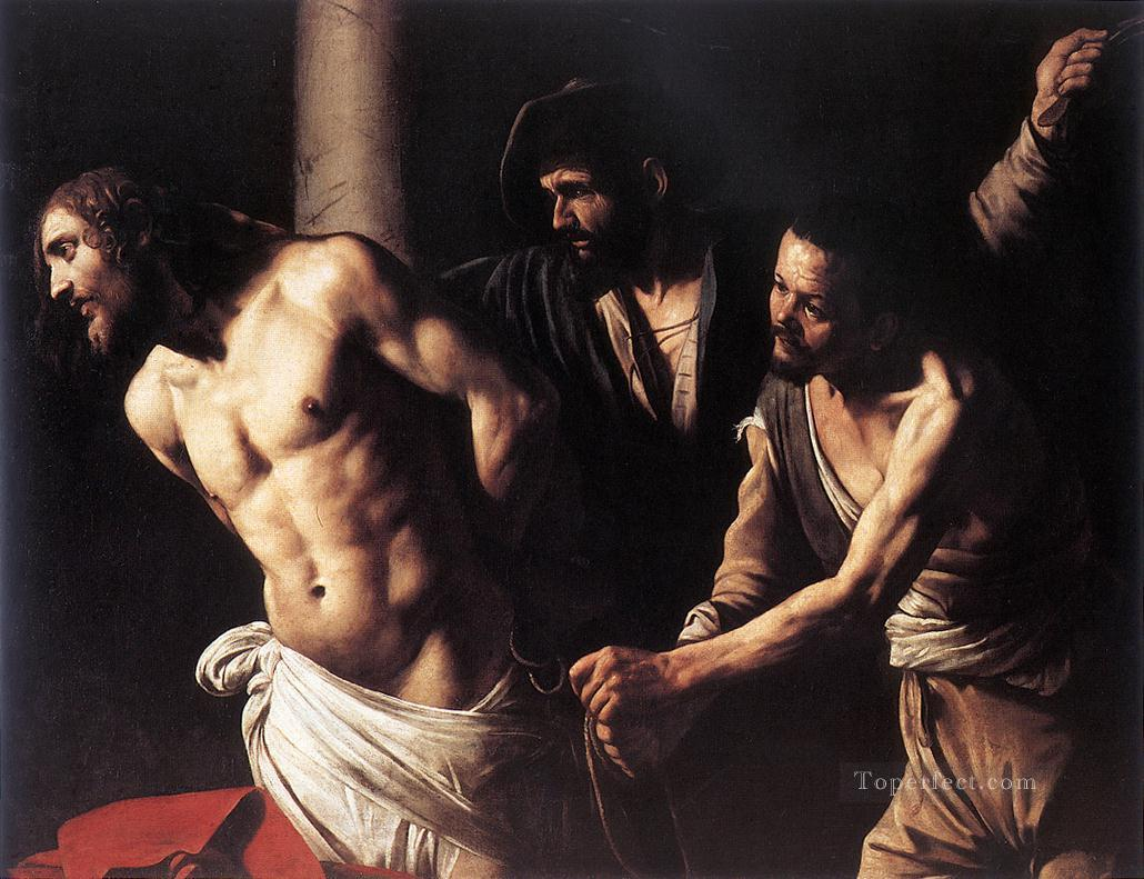 Christ at the Column religious Caravaggio Oil Paintings