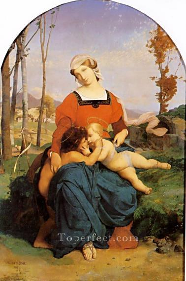 The Virgin the Infant Jesus and St John Jean Leon Gerome religious Christian Oil Paintings