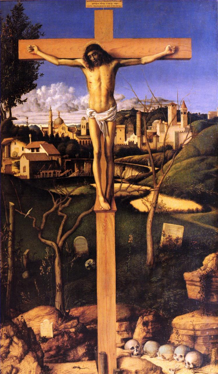 The crucifixion religious Giovanni Bellini religious Christian Oil Paintings