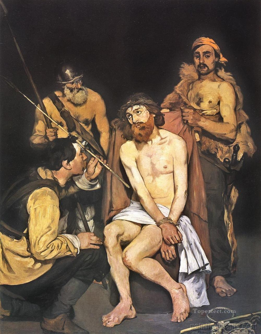 Edouard manet jesus mocked by the soldiers religious Christian Oil Paintings