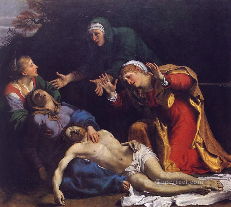 Lamentation of Christ religious Annibale Carracci Oil Paintings