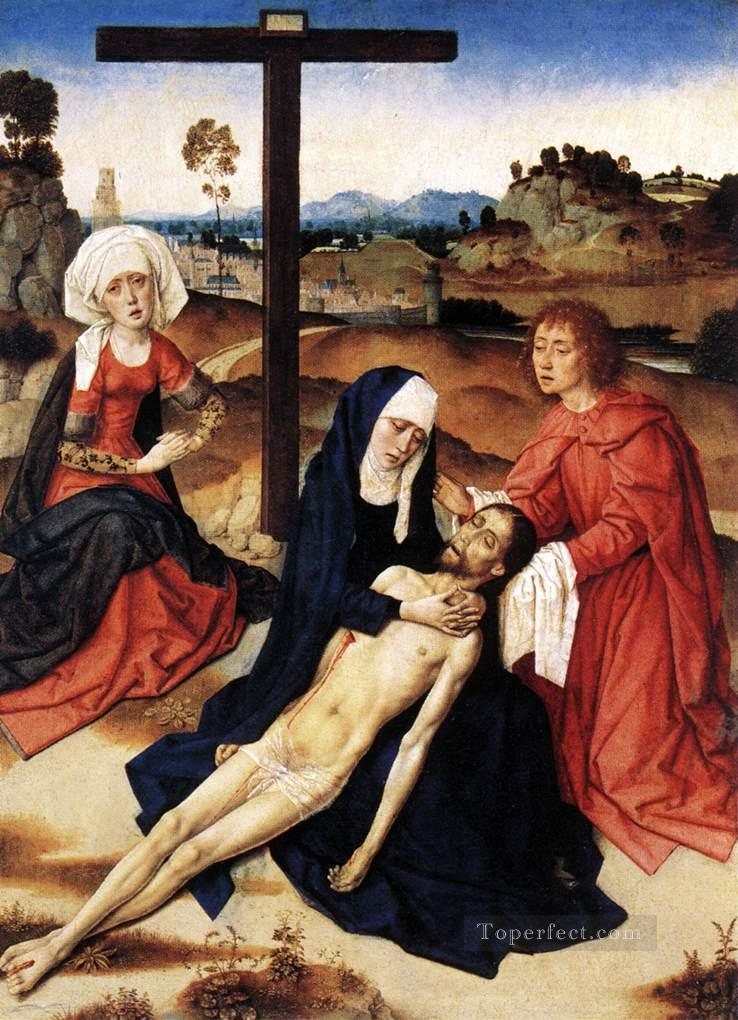 The Lamentation Of Christ religious Dirk Bouts Oil Paintings