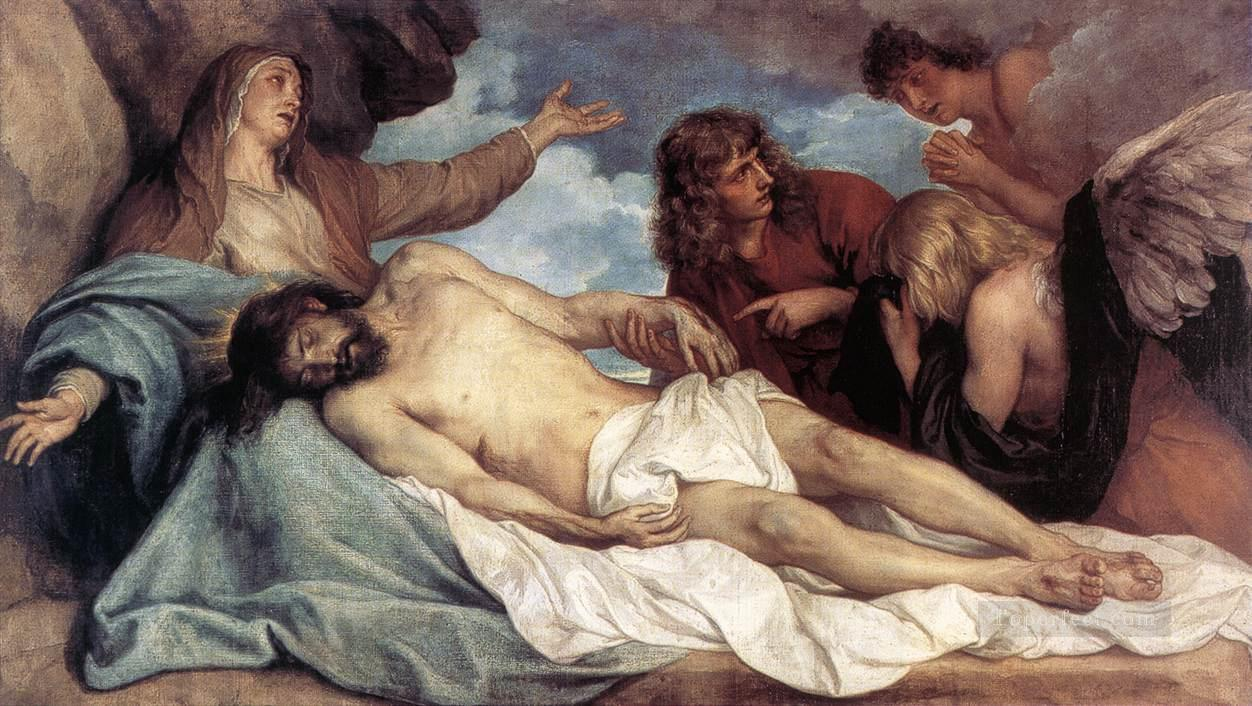 The Lamentation of Christ biblical Anthony van Dyck Oil Paintings