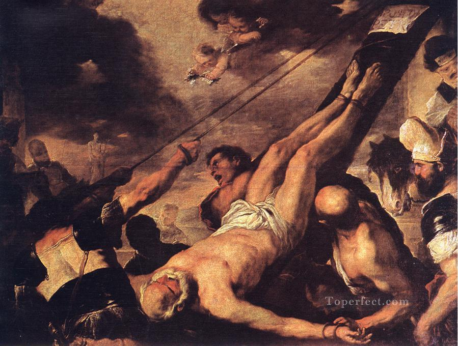 Crucifixion Of St Peter Luca Giordano religious Christian Oil Paintings