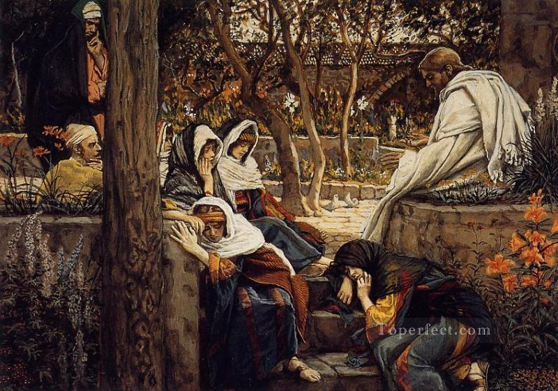 Jesus at Bethany James Jacques Joseph Tissot religious Christian Oil Paintings