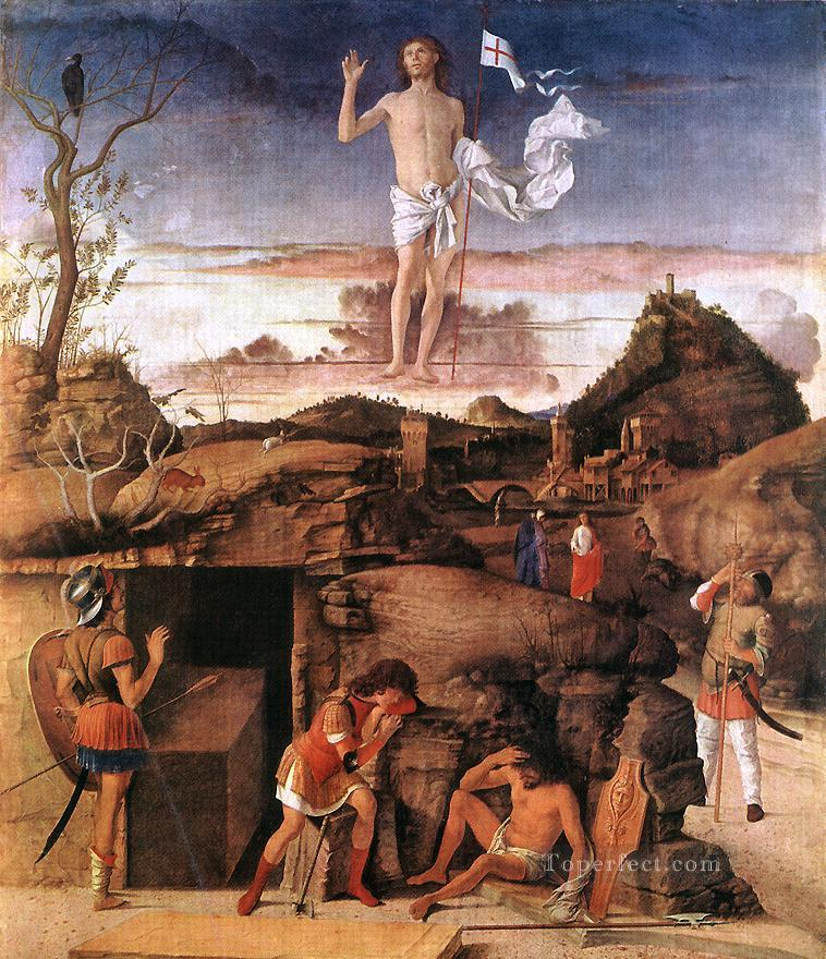 Resurrection of Christ religious Giovanni Bellini Oil Paintings