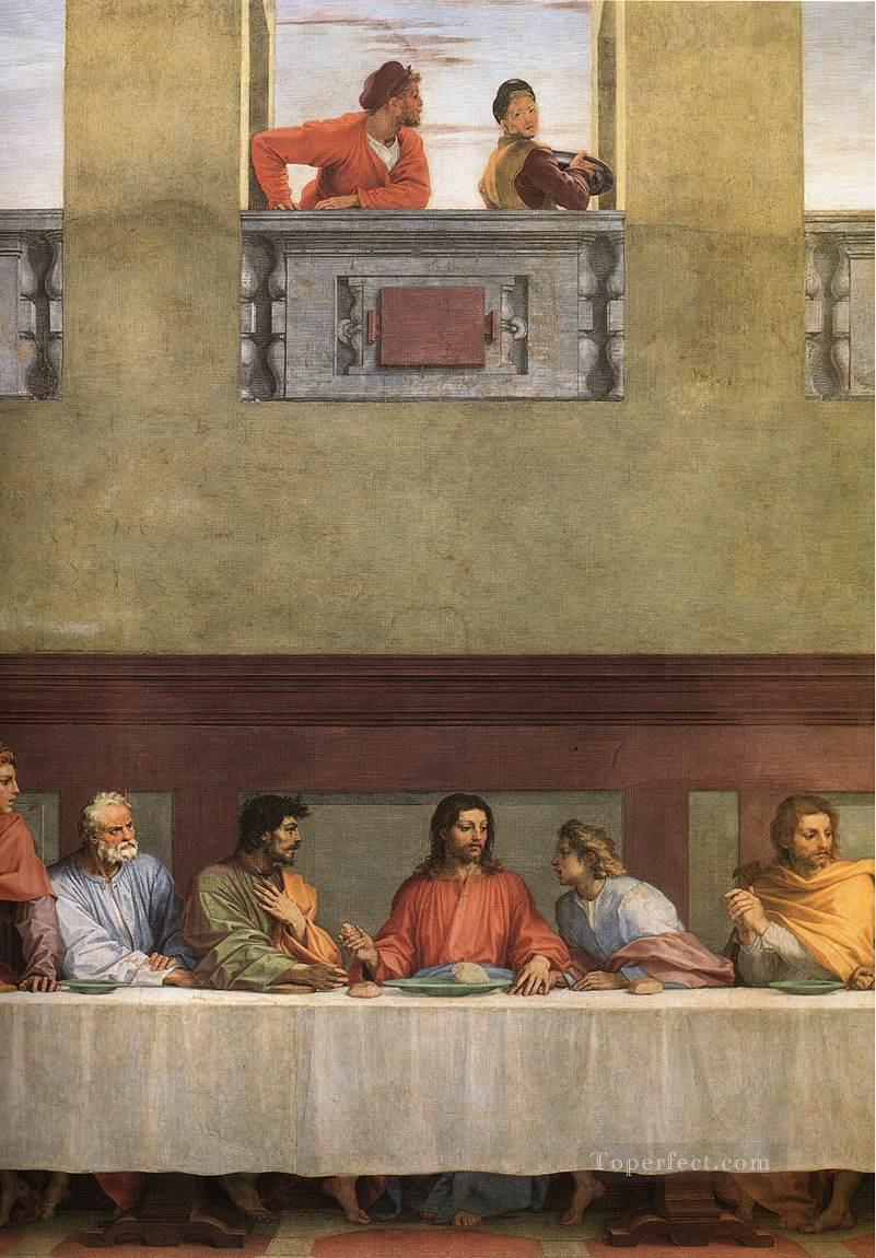 The Last Supper detail renaissance mannerism Andrea del Sarto religious Christian Oil Paintings