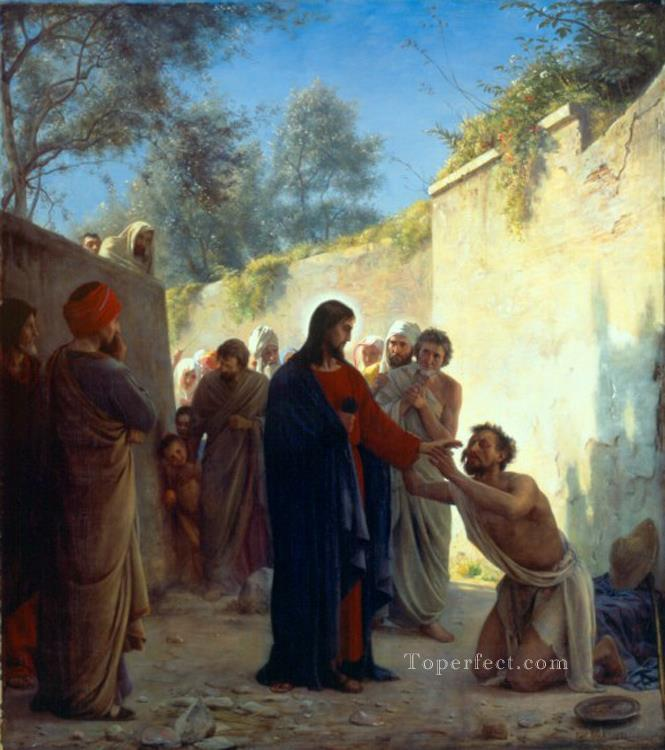 Christ Healing religion Carl Heinrich Bloch Oil Paintings