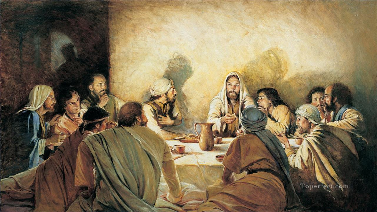 Last supper without Judas religious Christian Painting in Oil for Sale