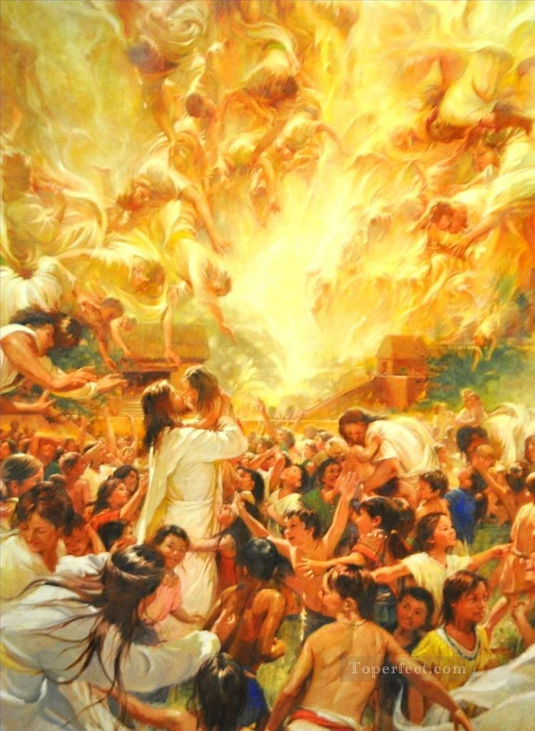 The Angels Ministered Catholic Christian Oil Paintings