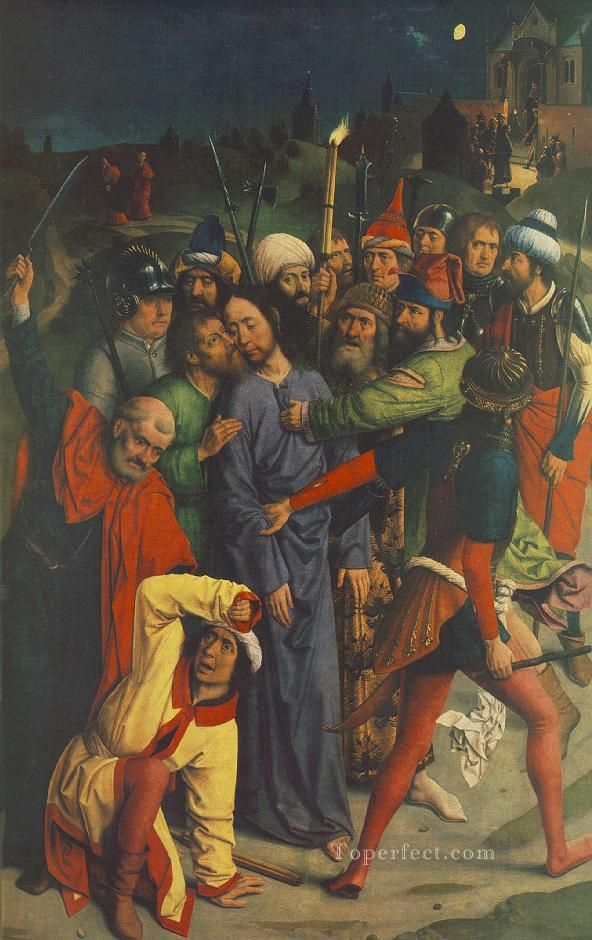 The Capture Of Christ religious Dirk Bouts Oil Paintings