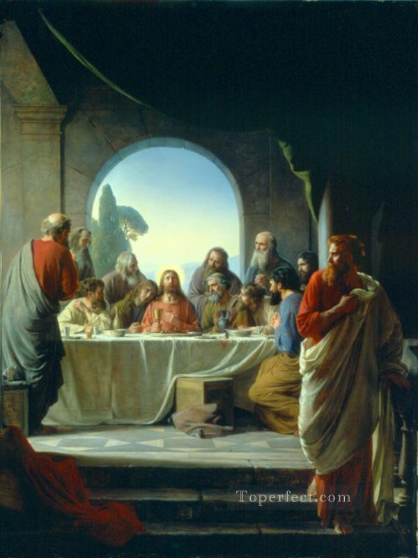 The Last Supper religion Carl Heinrich Bloch religious Christian Oil Paintings