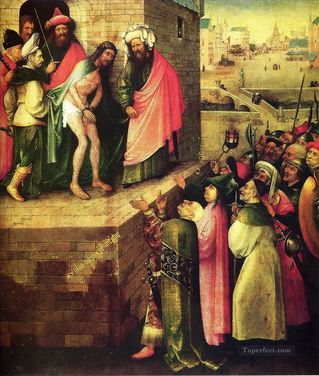 this is a human ecce homo Hieronymus Bosch religious Christian Oil Paintings