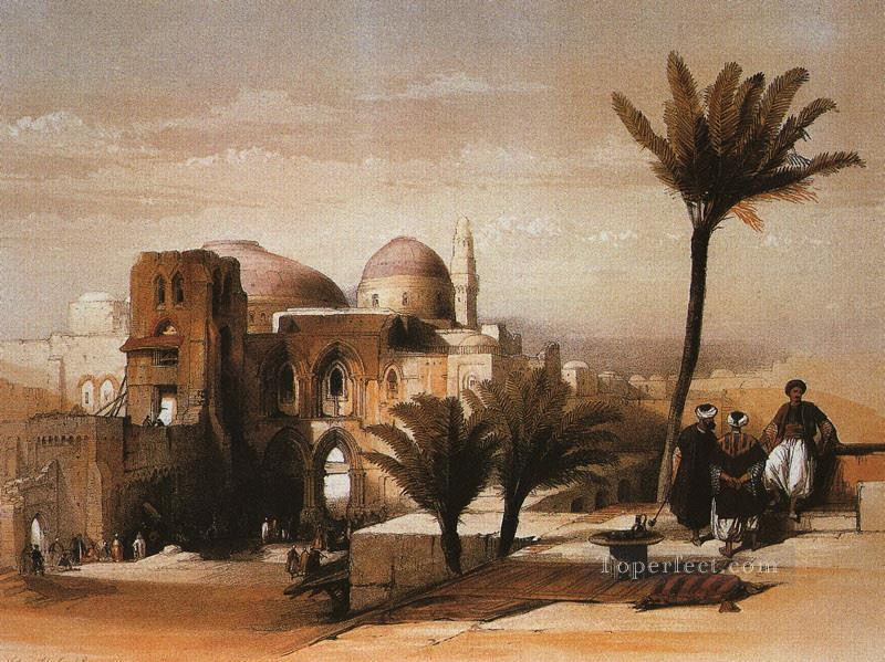 the mosque of omar David Roberts Islamic Oil Paintings