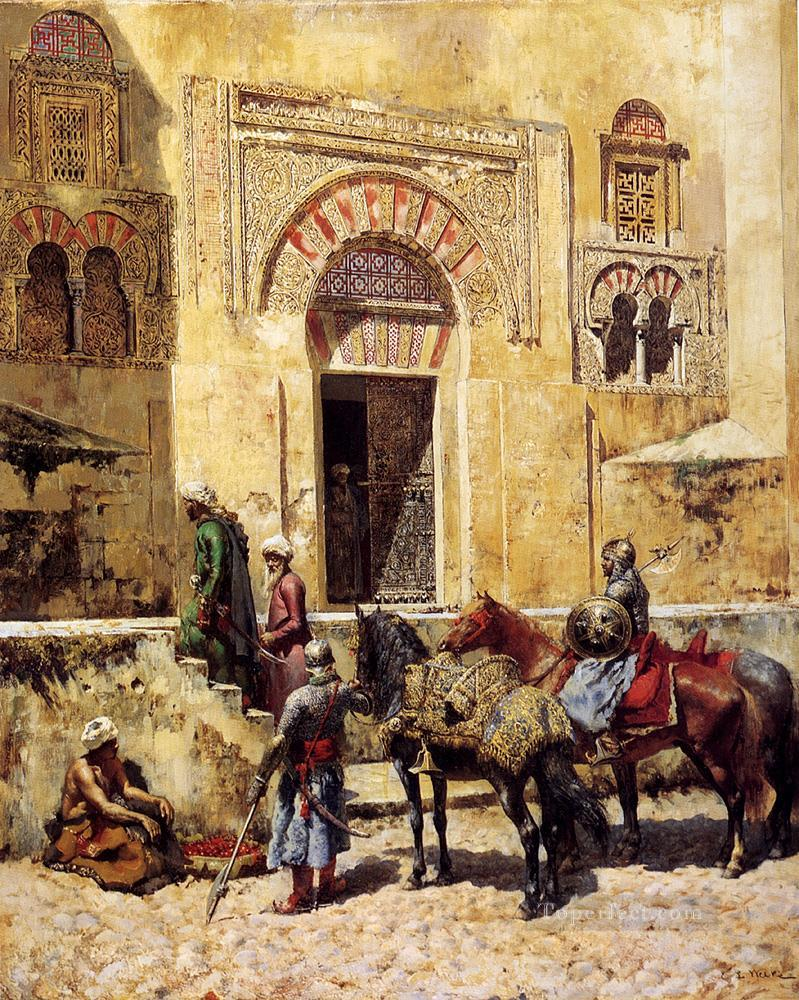 Entering The Mosque Arabian Edwin Lord Weeks Islamic Oil Paintings