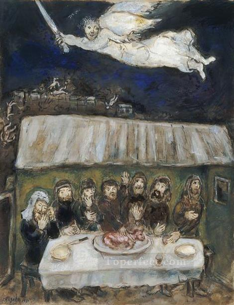 The Israelites are eating the Passover Lamb MC Jewish Oil Paintings