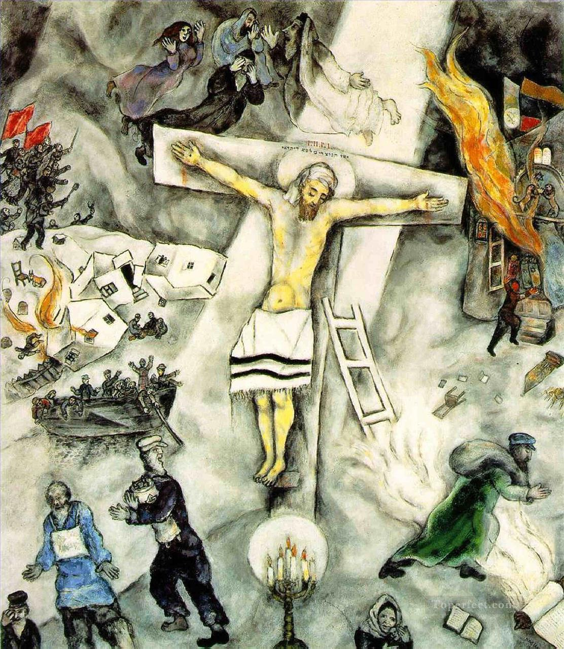 White Crucifixion MC Judaism Oil Paintings