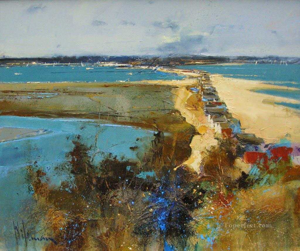Christchurch Harbour from Hengistbury Head abstract seascape Oil Paintings