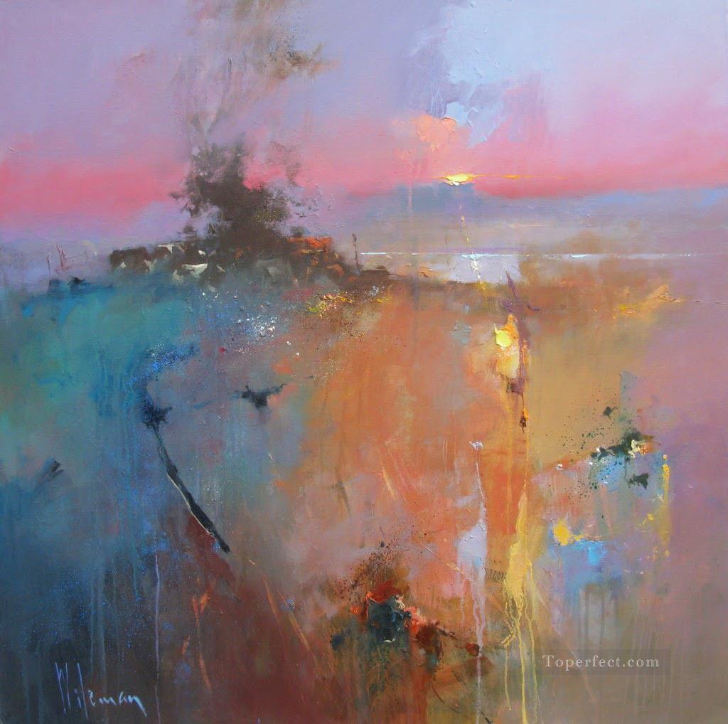 The Kiss Of Dawn Abstract Seascape Painting In Oil For Sale