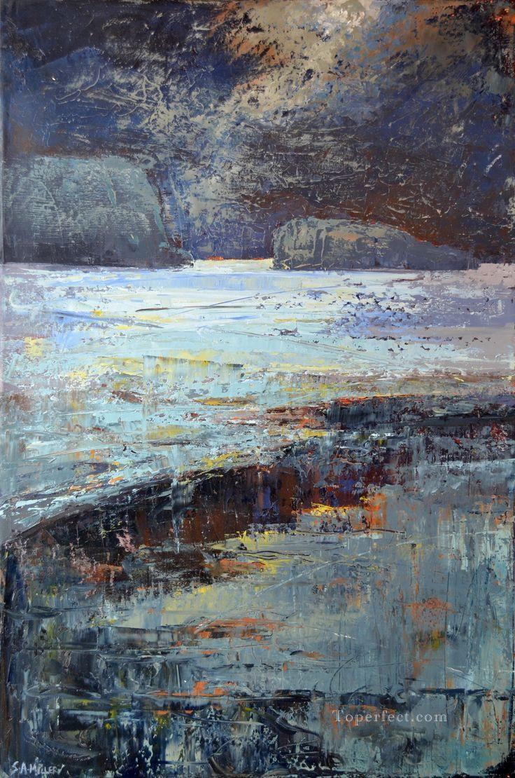 abstract seascape 023 Oil Paintings