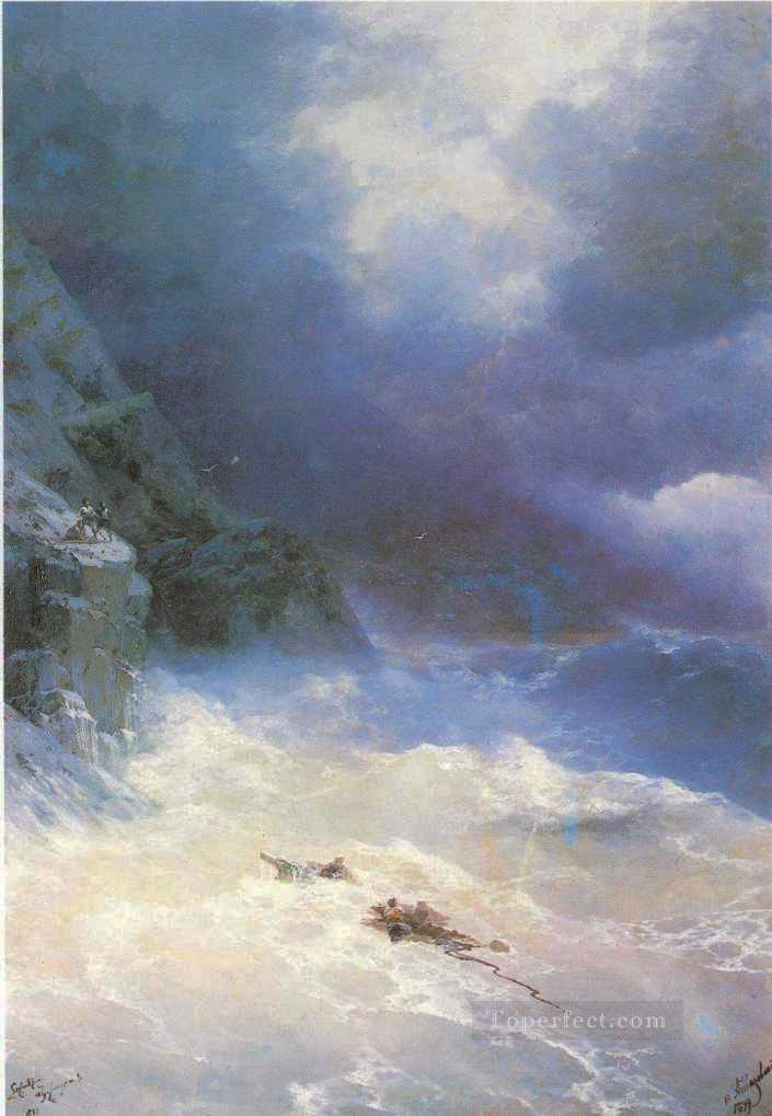Ivan Aivazovsky on the storm Seascape Oil Paintings