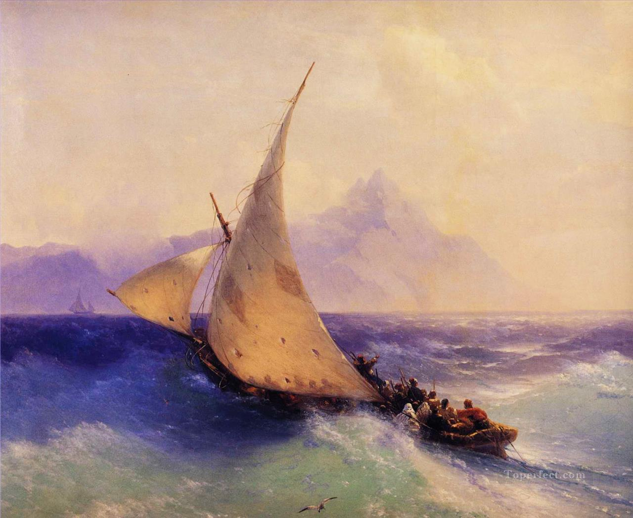 Ivan Aivazovsky rescue at sea Seascape Oil Paintings