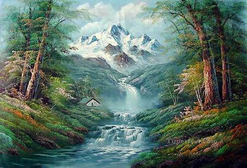 Cheap Vivid Freehand 12 Bob Ross Landscape Painting In Oil For Sale