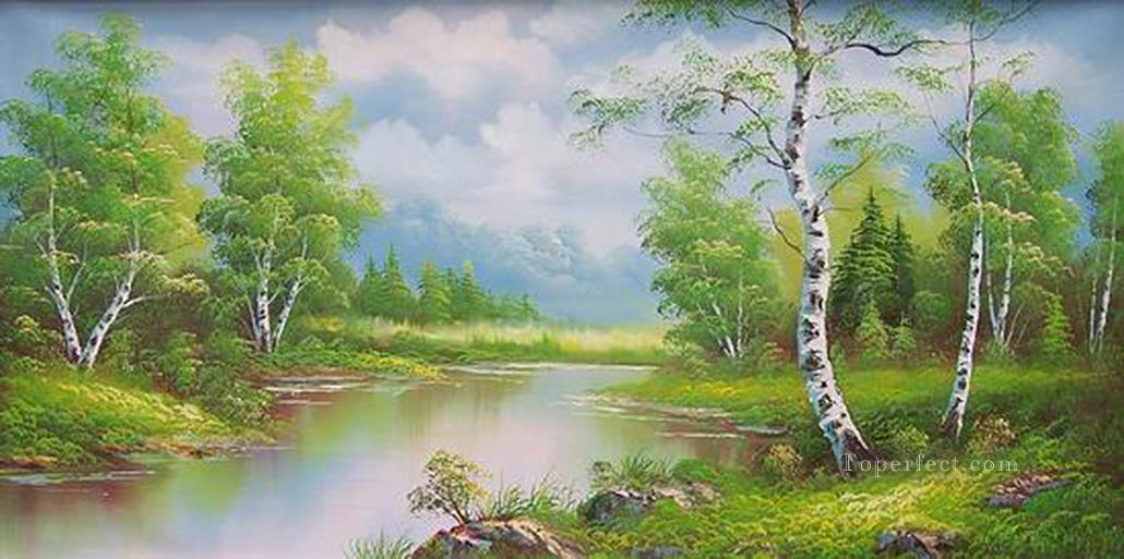 Vivid Green Landscape Paintings