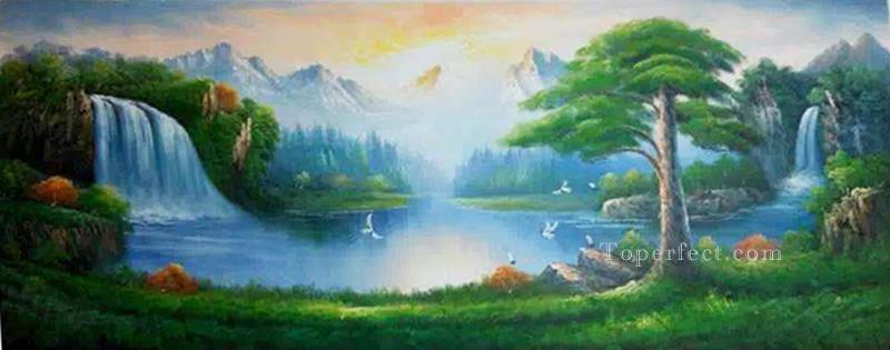 Fairyland Bob Ross Landscape Oil Paintings