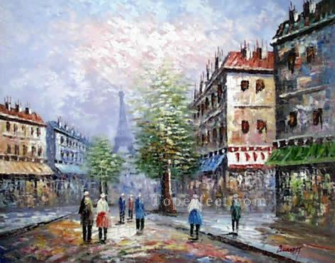 sy024hc street scene cheap Oil Paintings