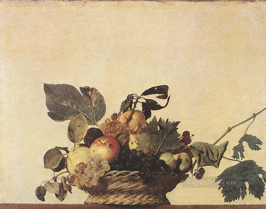Basket of Fruit Caravaggio still life Oil Paintings