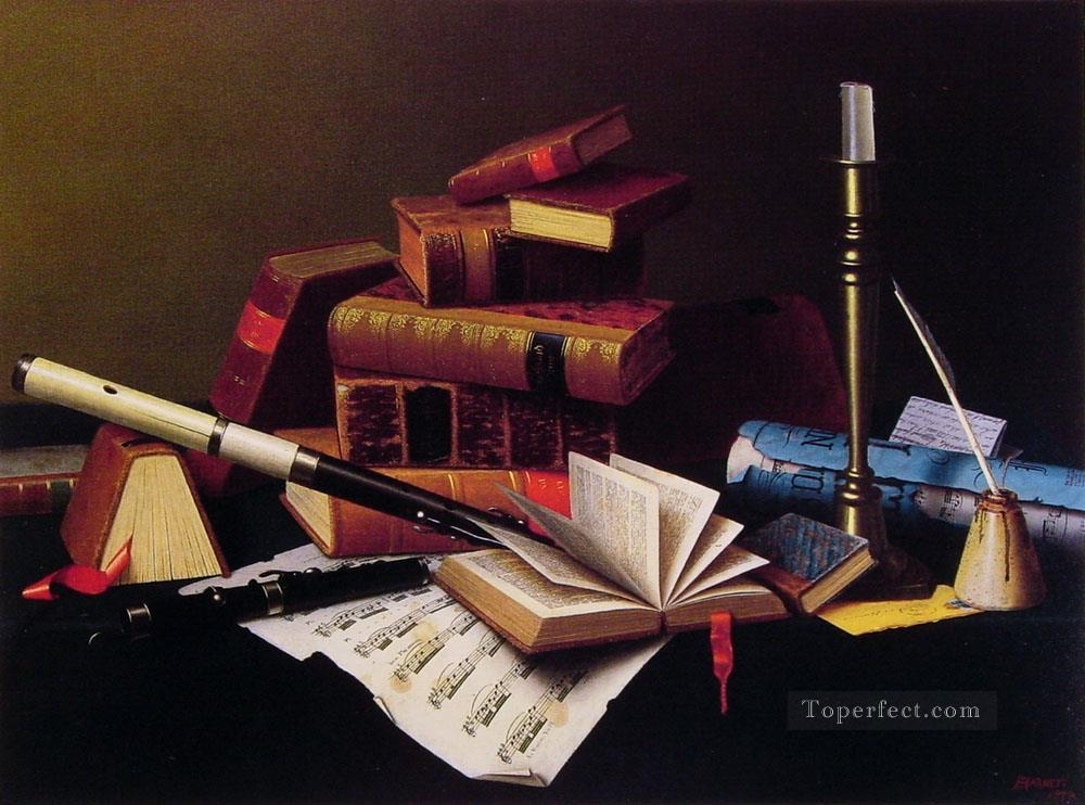 Music and literature William Harnett still life Oil Paintings