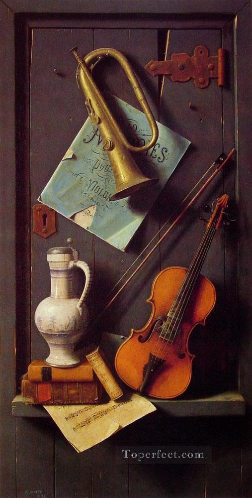 Old Models William Harnett still life Oil Paintings