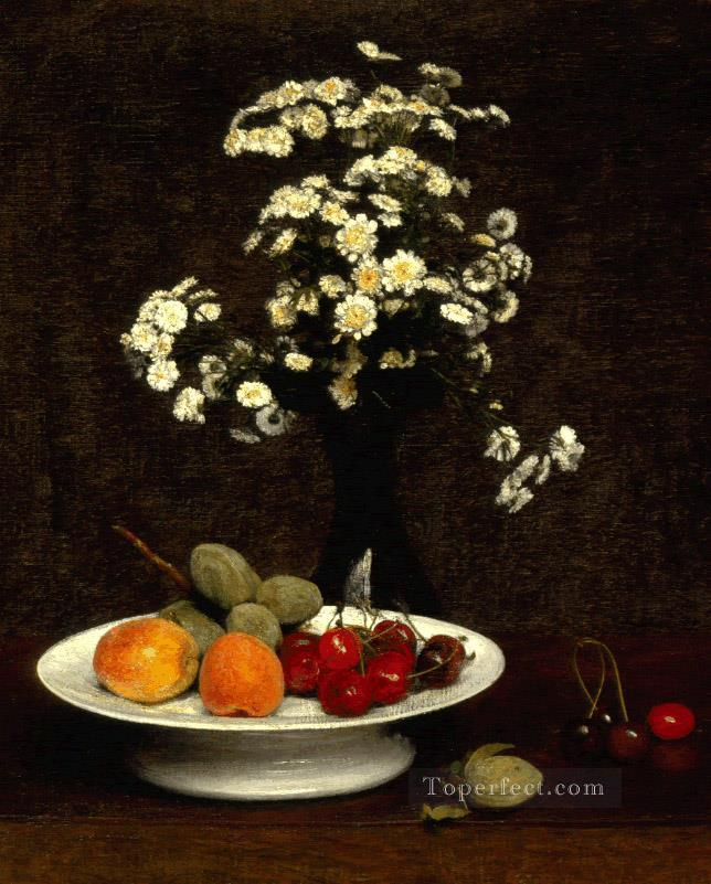 Still Life With Flowers 1864 flower painter Henri Fantin Latour Oil Paintings