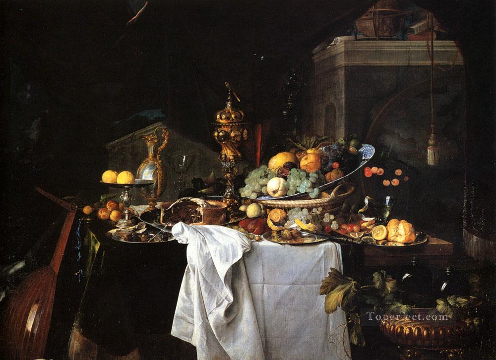 De Still Life Of Dessert Dutch Jan Davidsz de Heem Oil Paintings