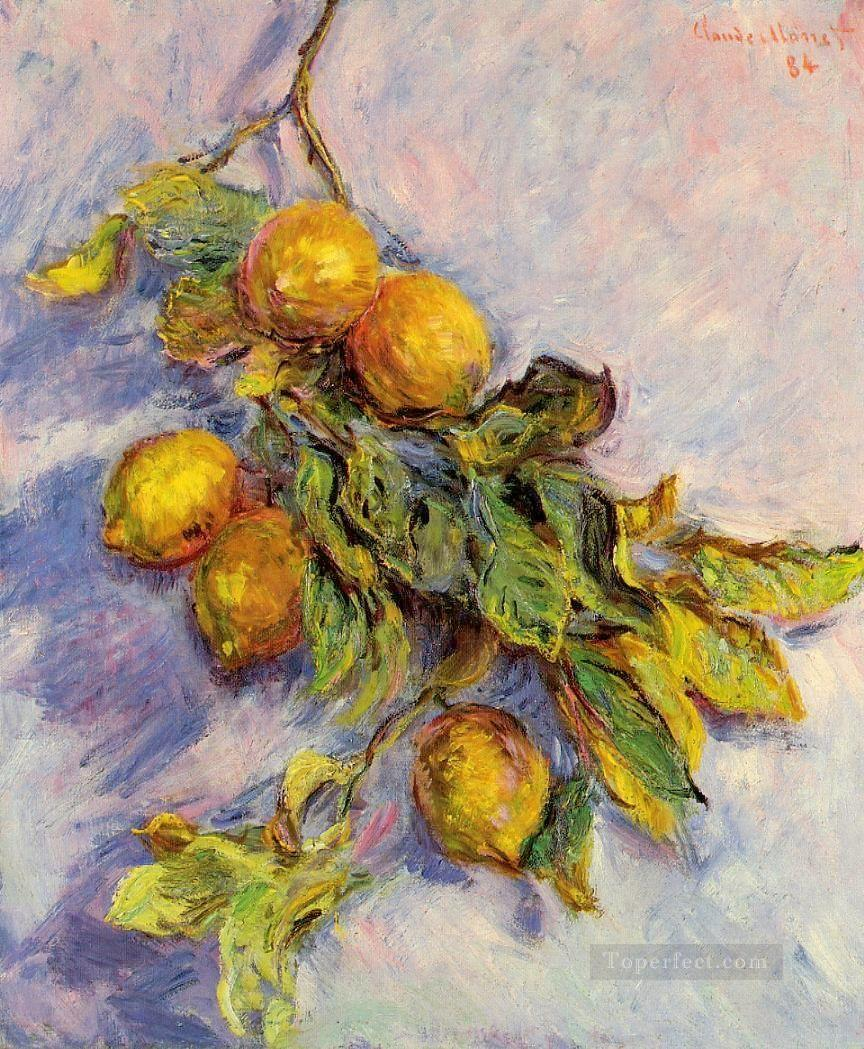 Lemons on a Branch Claude Monet still lifes Oil Paintings