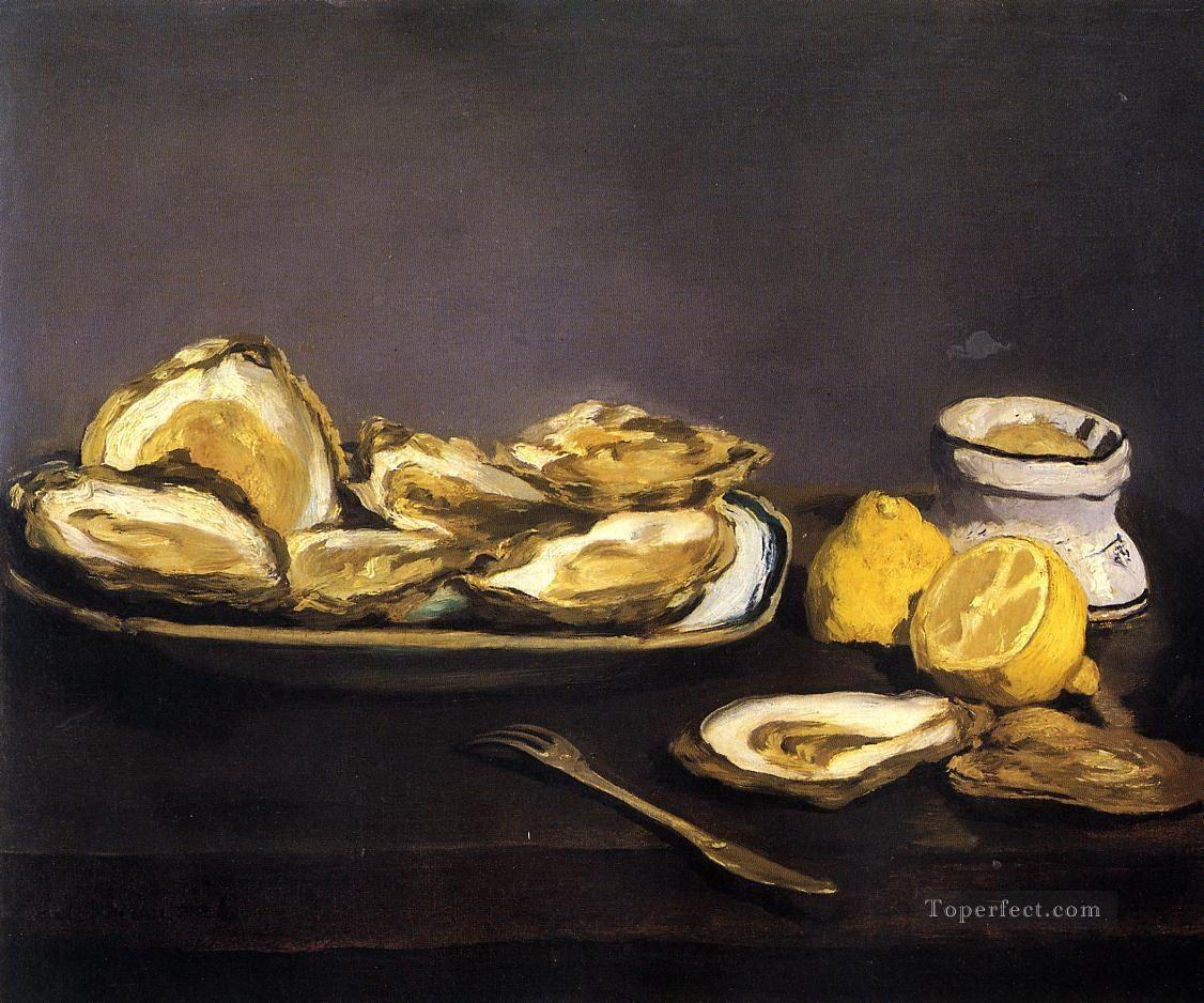 Oysters Eduard Manet Impressionism still life Oil Paintings