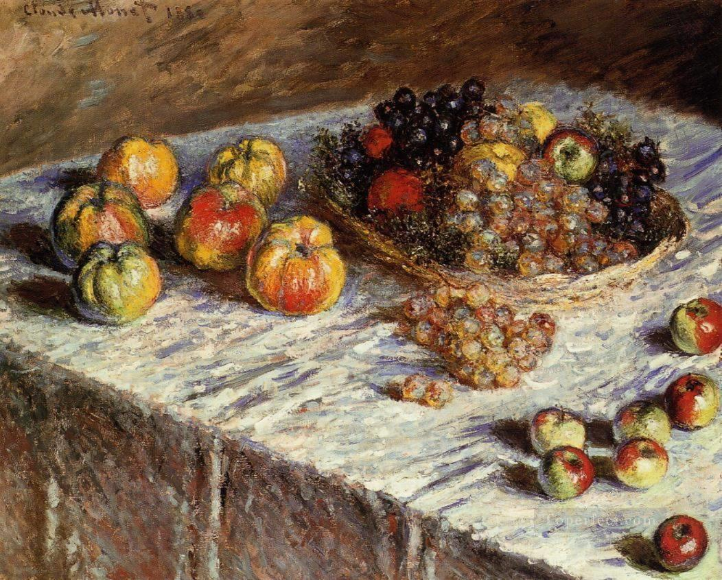 Still life apples and grapes claude monet painting in oil for Biographie claude monet