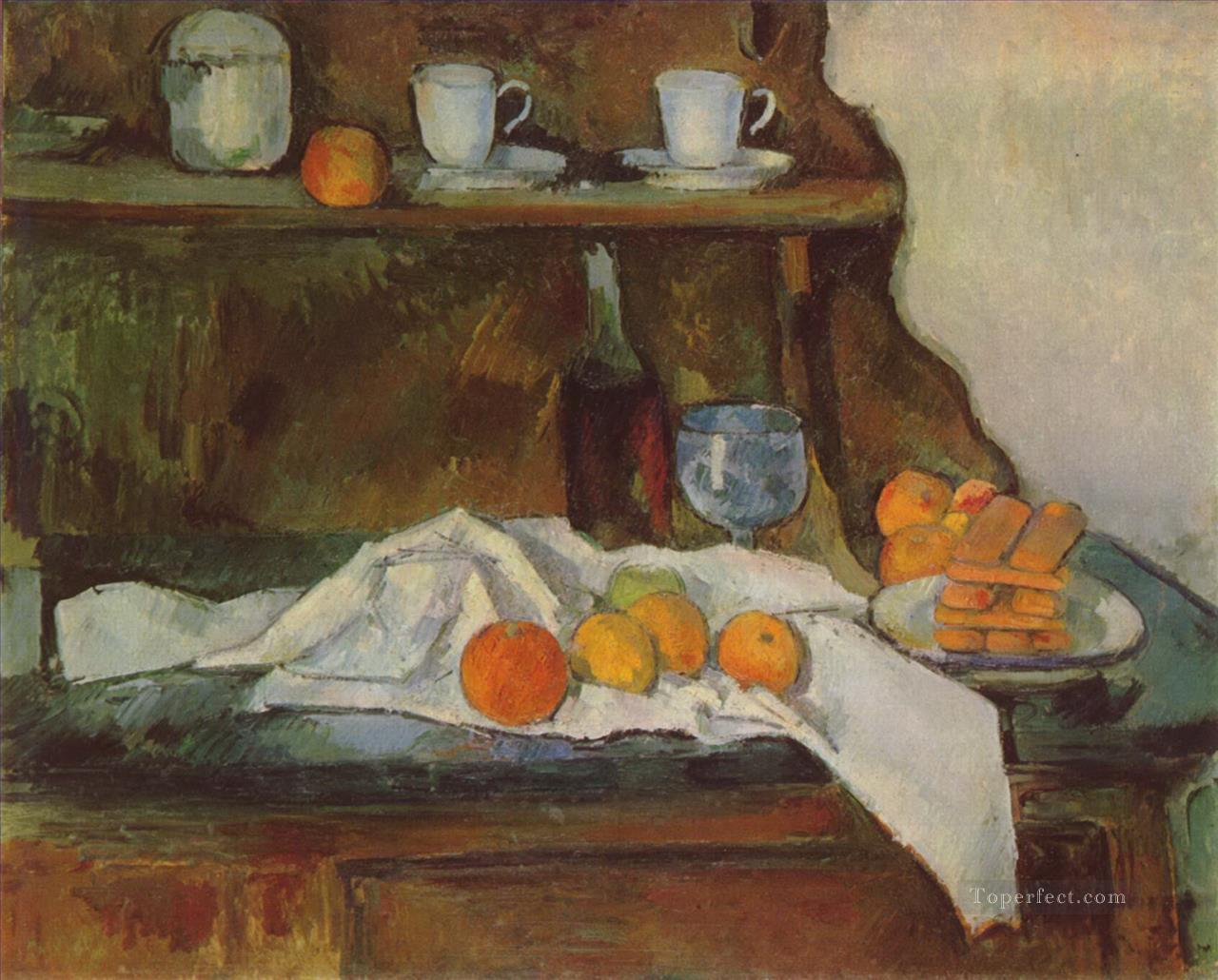 The Buffet Paul Cezanne Impressionism still life Oil Paintings