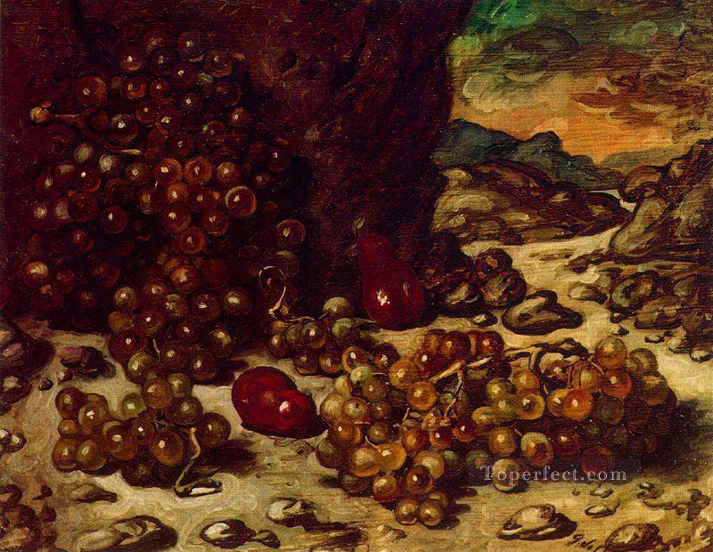 still life with rocky landscape 1942 Giorgio de Chirico Impressionist Oil Paintings