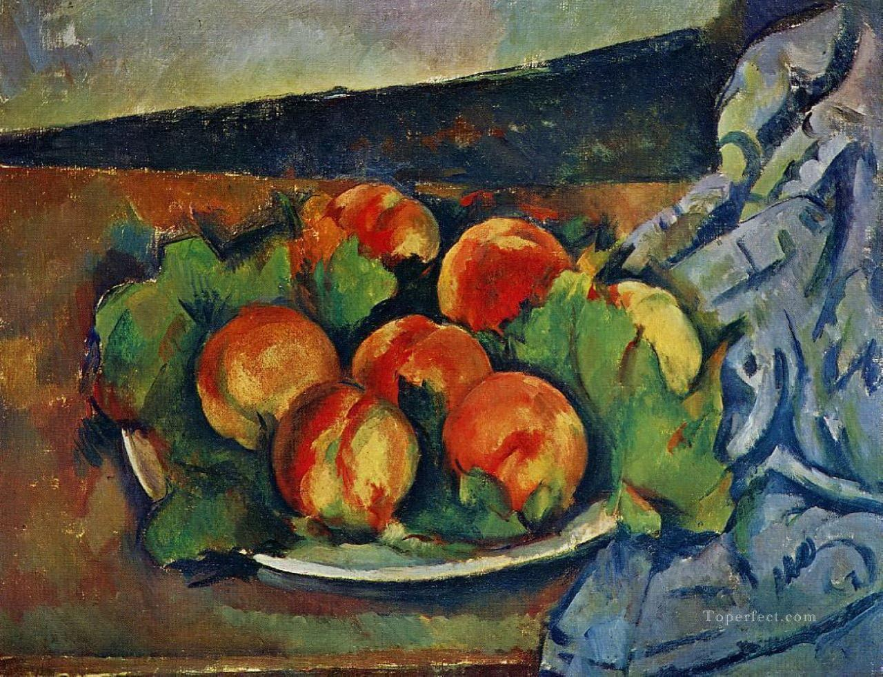 Dish of Peaches Paul Cezanne Impressionism still life Oil Paintings