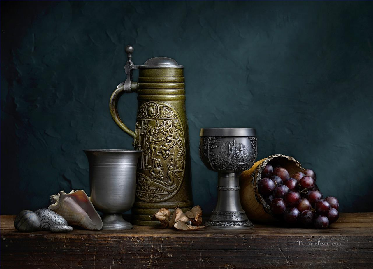 still life with green stein Oil Paintings