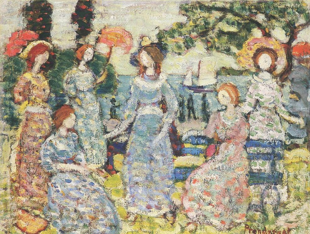 Maurice Prendergast The Grove textured Oil Paintings