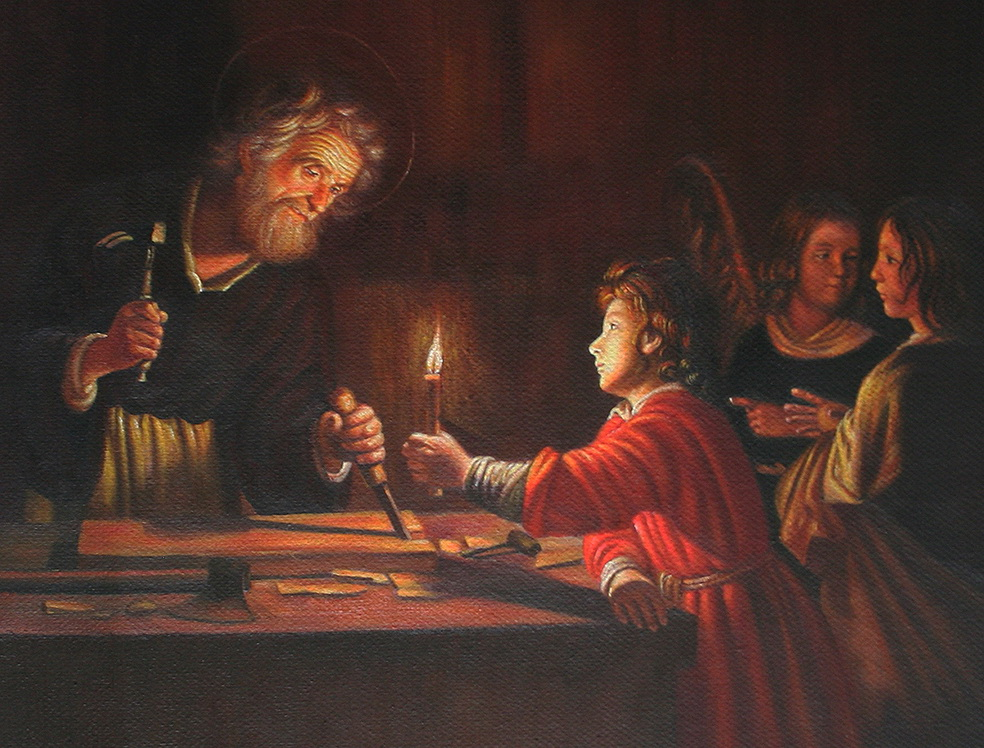 Childhood of Christ by Gerard van Honthorst Jesus Christian 18x21 inches USD180 Oil Paintings