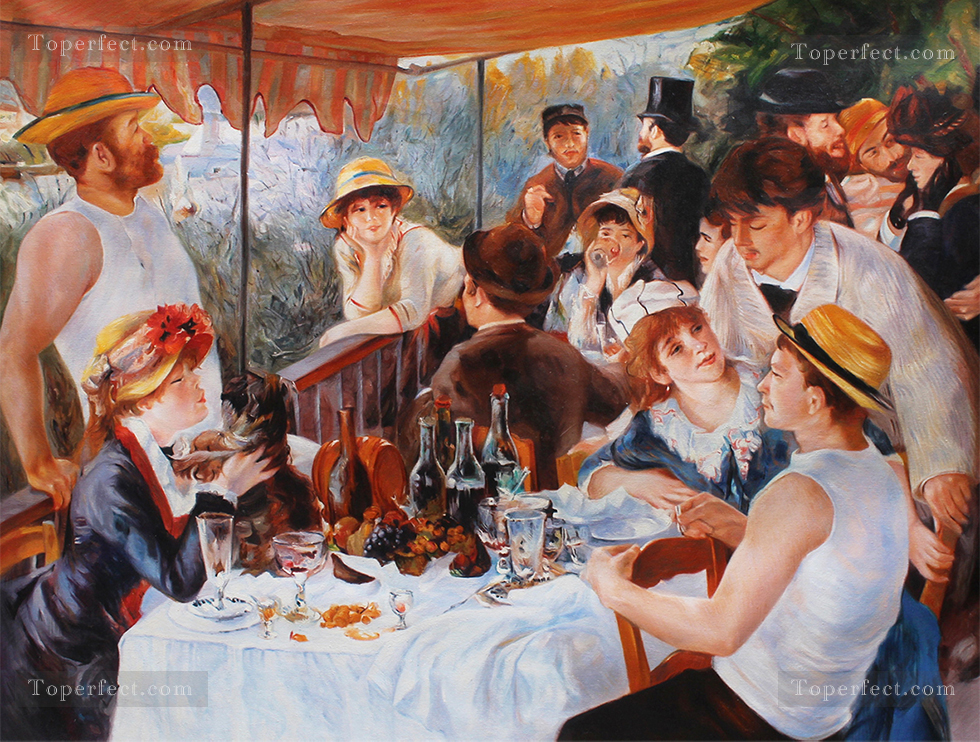 Reproduction by University Professors Luncheon of the Boating Party of Renoir 100X134cm USD750 Oil Paintings