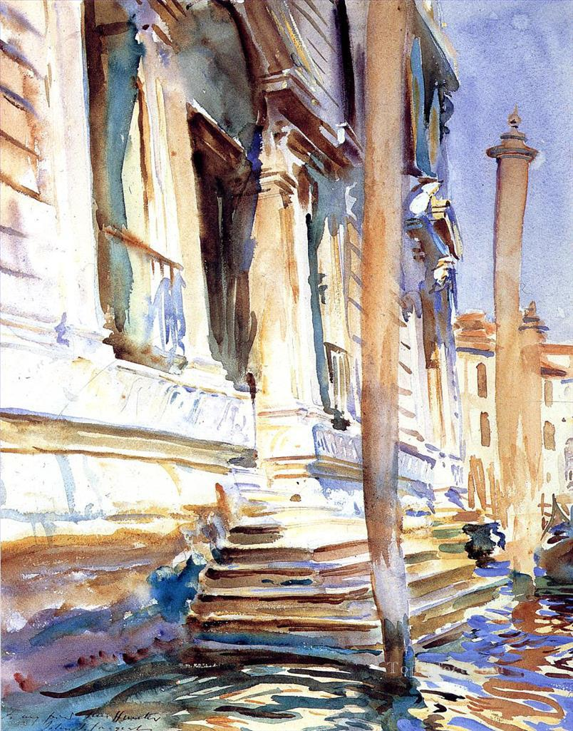 Doorway of a Venetian Palace John Singer Sargent watercolor Oil Paintings