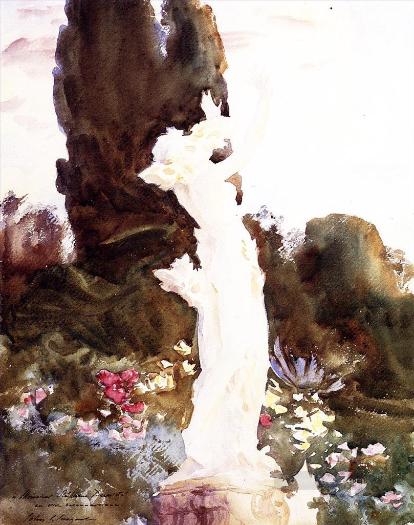 Garden Fantasy John Singer Sargent watercolor Oil Paintings